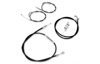 LA Choppers Black Cable/Brake Line Kit for 12″-14″ Bars - LA-8010KT-13B- SALE