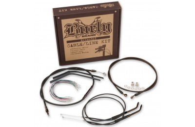 "Burly Brand Black 16"" Ape Hanger Cable/Brake Kit - B30-1013- SALE"
