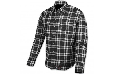 Speed and Strength Black Nine Black/White Flannel Moto Jacket - 878046 ( Sale )