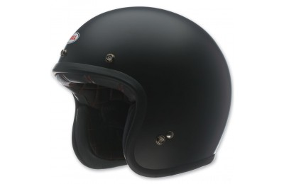 Black Friday Bell Custom 500 Matte Black Open Face Helmet - 7049170 ( Sale )