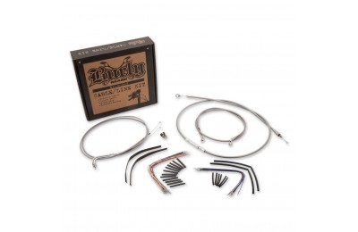"Burly Brand Braided Stainless 18"" Ape Hanger Cable/Brake/Wiring Kit - B30-1057 ( Sale )"