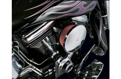 Arlen Ness Chrome Finish Stage II Big Sucker Kit Smooth Steel Cover - 18-818- SALE
