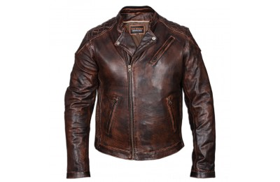Black Friday Vance Leathers Men's Classic Lightweight Vintage Brown Leather Jacket - HMM521VB-XL ( Sale )