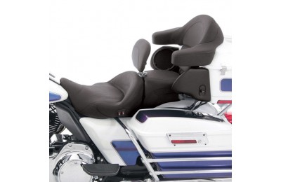 Black Friday Mustang Heated Super Touring Seat Plain with Driver Backrest - 79643 ( Sale )