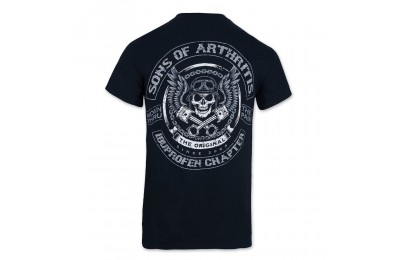 Black Friday Sons of Arthritis Men's Skulls & Pistons Black T-Shirt - 186 ( Sale )