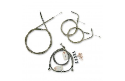 LA Choppers Stainless Cable/Brake Line Kit for 12″-14″ Bars - LA-8010KT-13- SALE