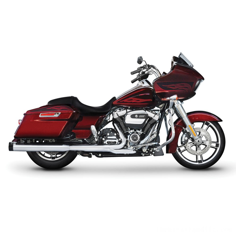 "Black Friday Rinehart Racing 4"" Slip-On Mufflers Chrome with Black End Caps - 500-0106 ( Sale )"