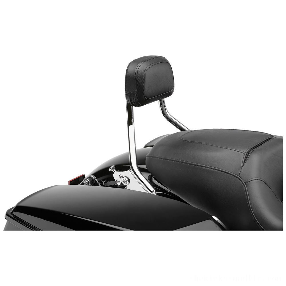 "Cobra Chrome Quick Detachable 14"" Round Bar Sissy Bar with Backrest - 602-2200 ( Sale )"